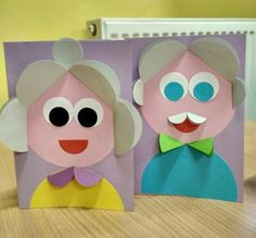 Crafts and games for children - Cute Kids Crafts, Paper Crafts For Kids, Projects For Kids, Diy For Kids, Diy And Crafts, Arts And Crafts, Children Crafts, Grandparents Day Crafts, Circle Crafts