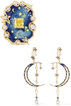 From Necklaces to Statement Earrings, This is the Bridal Jewelry Worth Splurging On. - Starry Eyed Surprise-CHANEL Fine Jewelry 'Vendôme Comète' ring in yellow gold - Moon Jewelry, Jewelry Art, Jewelry Gifts, Fine Jewelry, Fashion Jewelry, Jewelry Necklaces, Handmade Jewelry, Jewelry Armoire, Glass Jewelry