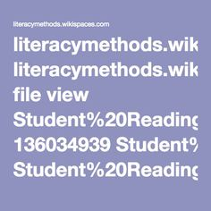 literacymethods.wikispaces.com file view Student%20Reading%20Comprehension%20Strategies%20explanation%20from%20Leslie.pdf 136034939 Student%20Reading%20Comprehension%20Strategies%20explanation%20from%20Leslie.pdf Reading Difficulties, Literacy, Pdf, Student, Maths