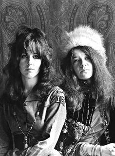 Grace Slick and Janis Joplin photographed in 1967. - Iconic Rock Shots of Bob…