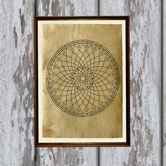 Esoteric symbol Magic mandala print Occult by artkurka on Etsy, $18.00