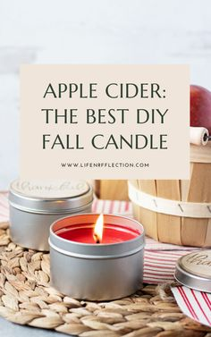 Candle Making Kit: Easy Apple Cider Candle Tins