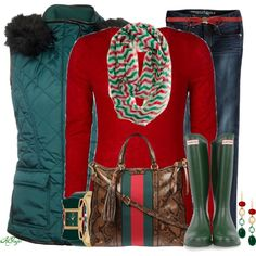 """Casual Christmas Colors Contest 2"" by kginger on Polyvore"