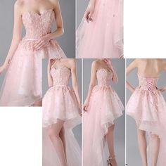 Prom Dresses,Elegant Evening Dresses,Long Formal Gowns,High Low Party Dresses,Tulle Pageant Formal Dress,High Low Prom Dresses