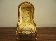 floral hooded chair