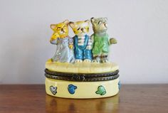 Limoges Style Three Little Kittens - SOLD! :)