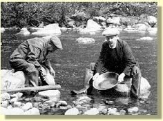 Panning for gold on the Fraser River