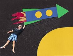 Blast Off Into Outer Space with an Easy Art Project - Hand Made Kids Art