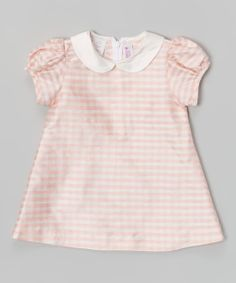 Pink Gingham Silk A-Line Dress - Infant & Toddler | Daily deals for moms, babies and kids