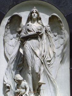 Angel Gravestone 5 Closeup by Aruyinn-Stock