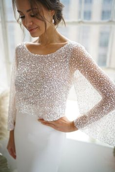Photo 1 12 56 am. Wedding Dress Topper, Wedding Dress Trends, Dream Wedding Dresses, Bridal Dresses, Wedding Gowns, Bridesmaid Dresses, Prom Dresses, Bridal Separates, Engagement Dresses