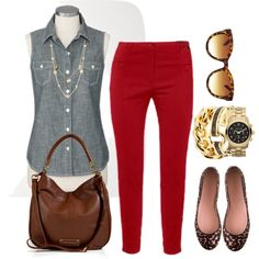 """""""Red Pants - Plus Size"""" by alexawebb on Polyvore"""