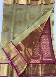 Tussar Gold Pure Organza Silk Sarees