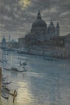 Edward John Poynter - A Moonlight scene, Venice