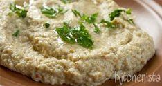 Baba ghanoush Vegetarian Italian, Vegan Vegetarian, Vegetarian Recipes, Eggplant Salad, Queso Feta, 200 Calories, Middle Eastern Recipes, Food Processor Recipes, Food And Drink