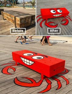 Who loves clever street art? New York-based street artist Tom Bob (previously here ) reshape common objects in the urban landscape and they will amaze you. 3d Street Art, Street Art Utopia, Street Art London, Street Art News, Urban Street Art, Best Street Art, Street Art Graffiti, Street Artists, Urban Art