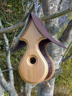 Cedar BIRDHOUSES BEAUTIFUL Bird Hosues Outdoor by MikeMerrittArt