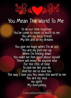 """Hello my Beautiful Angel...just something to let you know I am thinking about you, and how much you mean to me and how much you have impacted my life for tbe better...not just me but our family too...I love you with everything I am and ever will be.  Your """"My Love"""""""