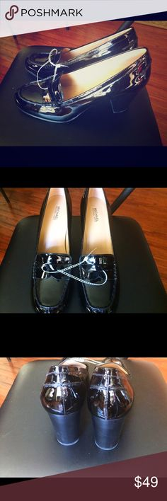 NWT Michael Kors Black Patent Loafer Heels New with tags! So cute yet so professional! Black patent leather loafer heels. Size 10. Originally bought for a client, I'm currently cleaning out my client closets. I'm using all the funds from my Poshing to fund a non-profit organization! Open to offers, especially on bundles. With bundles I give a 15% discount. I always price my items lower in order to accommodate for the shipping cost. you pay the same amount in shipping regardless of if you buy…