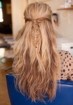 Loving this messy fishtail braid!