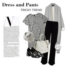 """Dress and pants"" by cly88 ❤ liked on Polyvore featuring Abercrombie & Fitch, Mint Velvet, Prada, Miu Miu, Calvin Klein, Brunello Cucinelli, women's clothing, women's fashion, women and female"