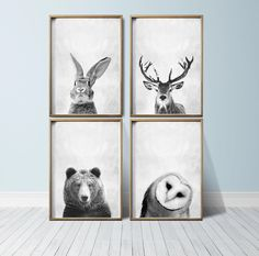 Wall Art Prints Animal Prints Woodland Nursery Prints Animal Art Woodland Animals Nursery Decor by PrintEclipse on Etsy https://www.etsy.com/listing/243545698/wall-art-prints-animal-prints-woodland