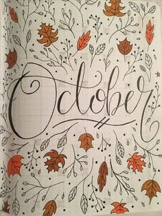October Journal Page