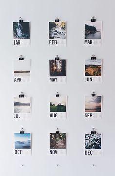 DIY photo wall calendar