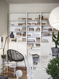 Love the bookshelves in this Scandinavian styled Gothenburg apartment!