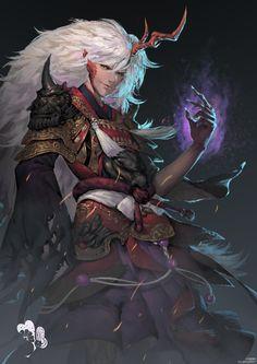 Dnd Characters, Fantasy Characters, Character Concept, Concept Art, Monster Boy, Ibaraki, Dragon King, Basara, Anime Base