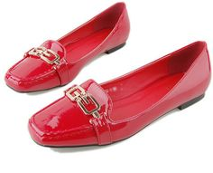 #chicnova                 #Clothing                 #Patent #Flat #Shoes #with #Square #Golden #Metal #Hardware                   Red Patent Flat Shoes with Square Toe and Golden Metal Hardware                                         http://www.seapai.com/product.aspx?PID=4844754