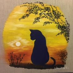 Peinture à l'huile sur toile 20x20 en lin écru.