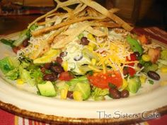 Barbeque chicken salad.