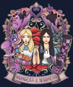 Wonders and madnesd alice liddell, disney marvel, dark art, alice in wonderland merchandise Alice Liddell, Dark Alice In Wonderland, Adventures In Wonderland, Arte Disney, Disney Art, We All Mad Here, Go Ask Alice, Chesire Cat, Twisted Disney