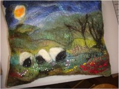 wet felted pictures - Google Search