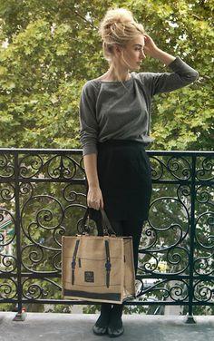 H Sweater, Chloé Skirt, Jovens Bag, Repetto Shoes