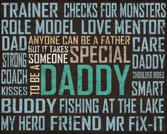Personalized Fathers day art Anyone can be a father by didiStyle, $16.50