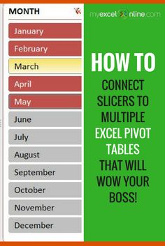 Connect Slicers to Multiple Excel Pivot Tables that will make you stand out from the crowd! | Learn Microsoft Excel Tips + Free Excel Tutorials & Cheat Sheets |  The Most In-Depth Excel Video Courses Online at http://myexcelonline.thinkific.com/