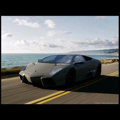 Lamborghini Reventon spectacular coastal drive