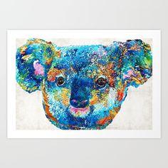 #koalabear #koala Colorful Koala Bear Art by Sharon Cummings <br/> <br/> koala, koala…