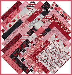 Quilting squares...perfect for a Valentine  quilt!