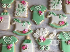 1 Dozen It's A Girl Sugar Cookies