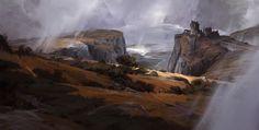 Highland Gap, Dorje Bellbrook on ArtStation at http://www.artstation.com/artwork/highland-gap
