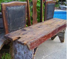 fabriquer un banc de jardin avec chaise et planche bois