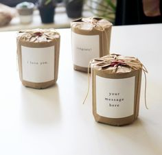 Mizu brand Candle Gift wrap with customized message Candle inspiration for Karen Gilbert. Homemade Candles, Diy Candles, Soy Wax Candles, Scented Candles, Candle Gifts, Diy Candle Oil, Ideas Candles, Natural Candles, Candle Shop