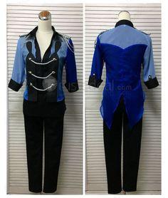 Yuri on Ice YOI Stay Close to Me Katsuki Yuuri Blue Cosplay Costume