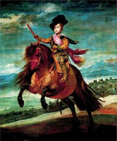 Prince Balthasar Carlos on horseback - Diego Velazquez -