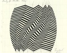I am inspired by the way that she uses lines and angles to create interesting optical illusions