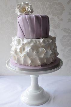 Lavender petals  and  pleats  ~ all edible
