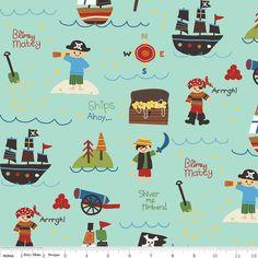 Riley Blake Designs Treasure Map Flannel Pirates & Ships!